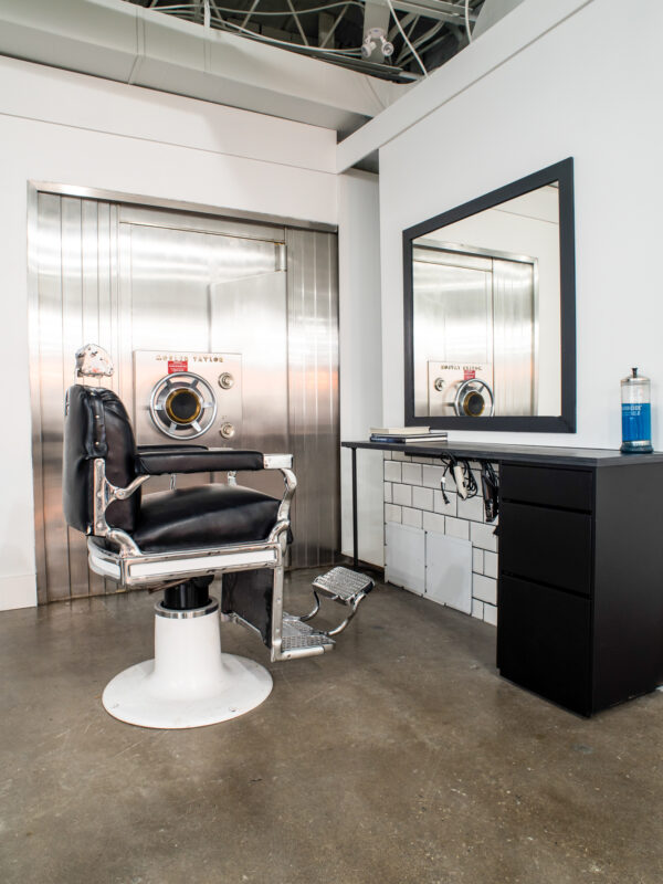 the interior of a hair studio